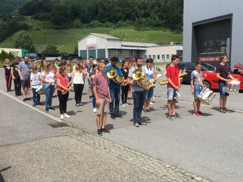 Jugendmusiken Widnau am WJMF